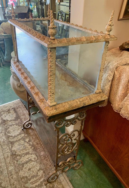 19th Century Vintage Fiske Iron Aquarium or Terrarium on Stand In Good Condition For Sale In Los Angeles, CA