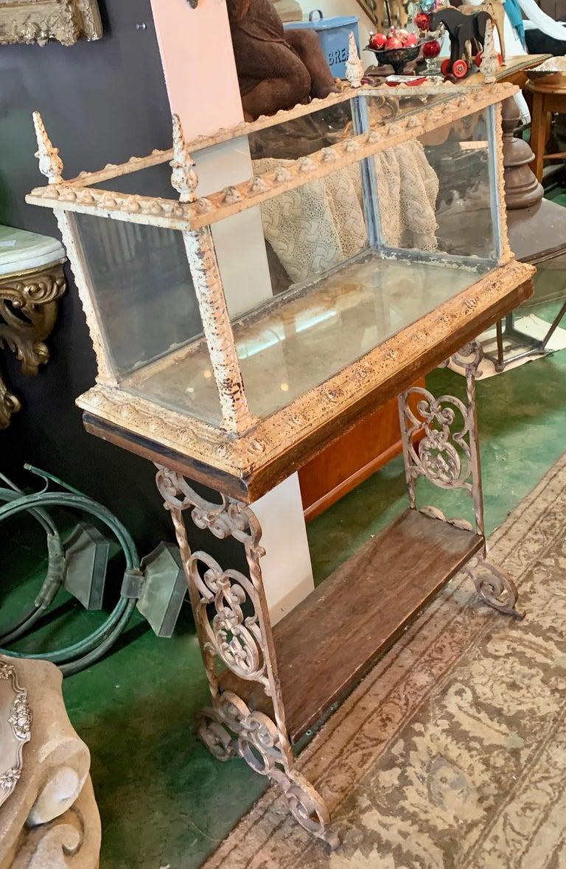 19th Century Vintage Fiske Iron Aquarium or Terrarium on Stand For Sale 2