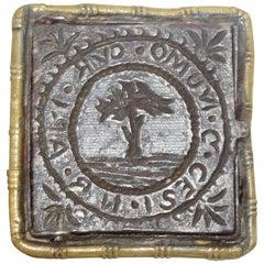 19th Century Vintage Historic Mixed Metal Bishop Ring