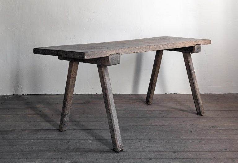 Rustic 19th Century Wabi Sabi Farmhouse Table For Sale