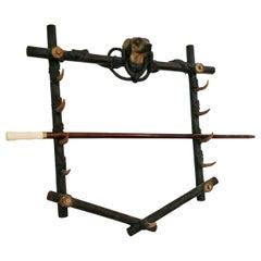 19th Century Walking Stick Rack Stand