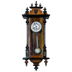 19th Century Wall Clock with Carvings