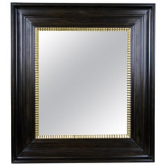19th Century Wall Mirror Cherrywood with Gilt Wavy Bars, Austria, circa 1890