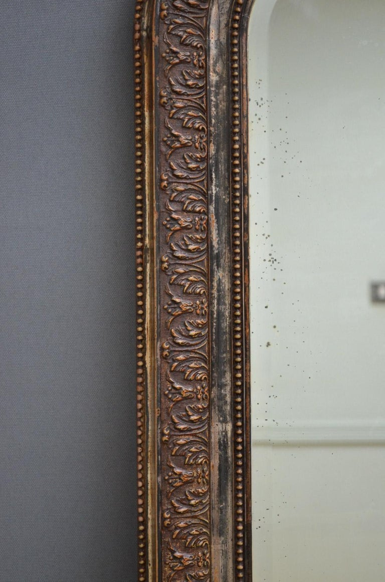 French 19th Century Wall Mirror For Sale