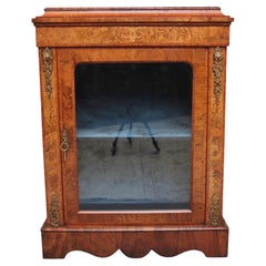 19th Century Walnut and Marquetry Pier Cabinet