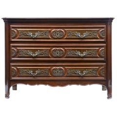 19th Century Walnut and Rosewood French Provincial Commode