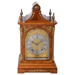 19th Century Walnut Bracket Clock