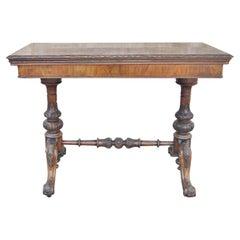 19th Century Walnut / Burr Walnut English Game / Card Table