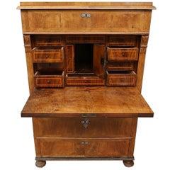 19th Century Walnut Cabinet Secretereis