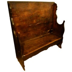 19th Century Walnut Fireplace Bench