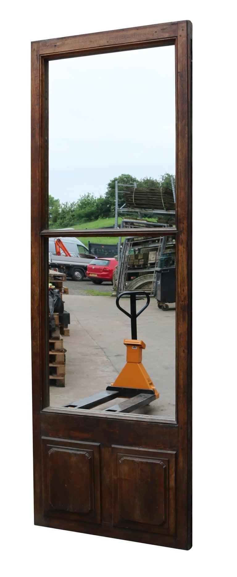 19th Century Walnut French Mirror Door Or Panel