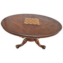 19th Century Walnut Games Table