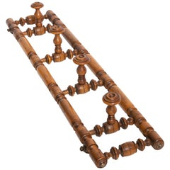 19th Century Walnut Hat Rack