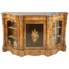 19th Century Walnut Inlaid Sideboard