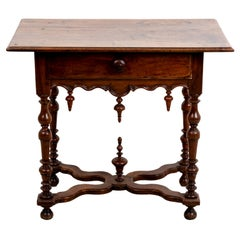19th Century Walnut Jacobean Table