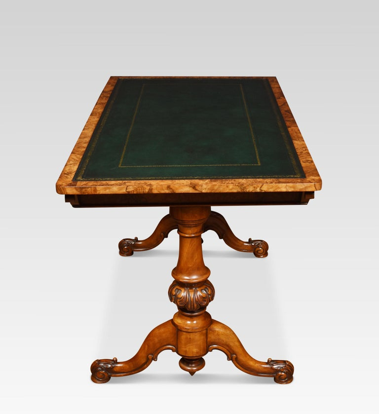19th Century Walnut Library Table In Good Condition For Sale In Cheshire, GB