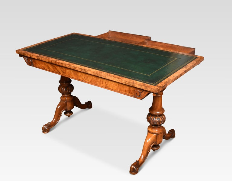 19th Century Walnut Library Table For Sale 2
