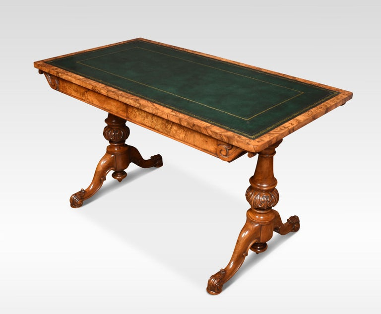 19th Century Walnut Library Table For Sale 3