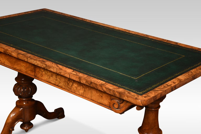19th Century Walnut Library Table For Sale 4