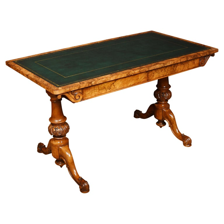 19th Century Walnut Library Table For Sale