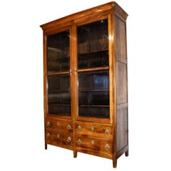 19th Century Walnut Louis Philippe Bibliotheque