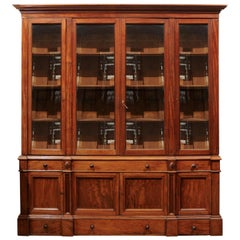 19th Century Walnut Louis Philippe Bookcase