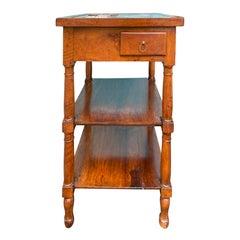 19th Century Walnut Marble Top Rafraichiossoir Table, 2 Bottle Holders
