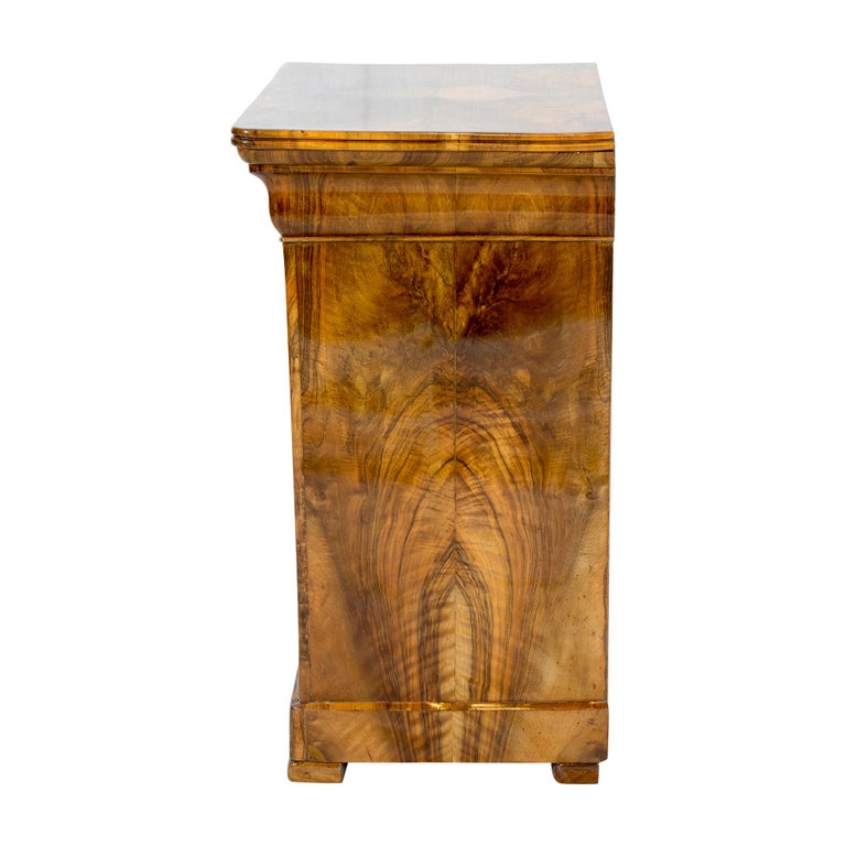 19th Century Walnut Nightstand or Pillar Cabinet In Good Condition For Sale In Darmstadt, DE