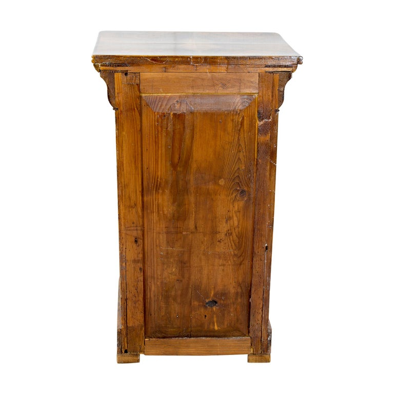 19th Century Walnut Nightstand or Pillar Cabinet For Sale 2