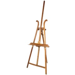 19th Century walnut painter's easel