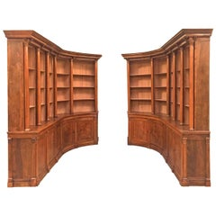 19th Century Walnut Pair of Bookcases Boiserie de Bibliothèque