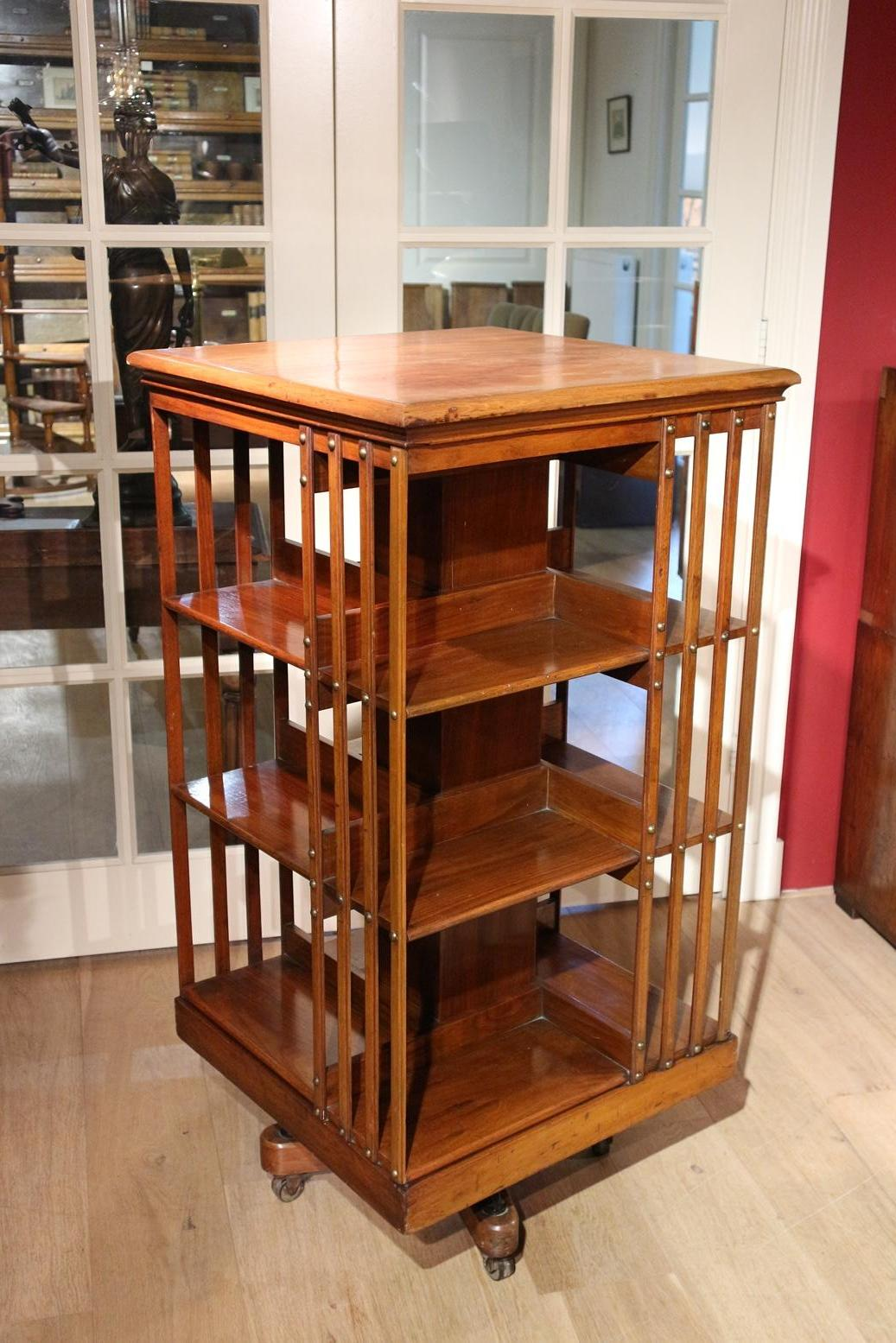 19th Century Walnut Revolving Bookcase Maple And Co At 1stdibs