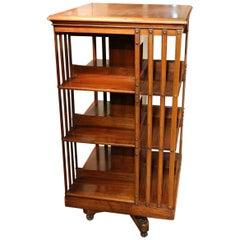 19th Century Walnut Revolving Bookcase Maple & Co.