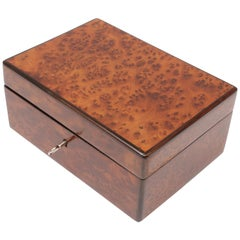 19th Century Walnut Root Wood Biedermeier Casket
