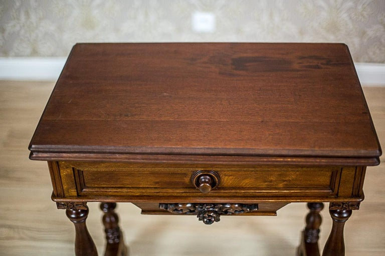 19th Century Walnut Sewing Table or Card Table For Sale 9