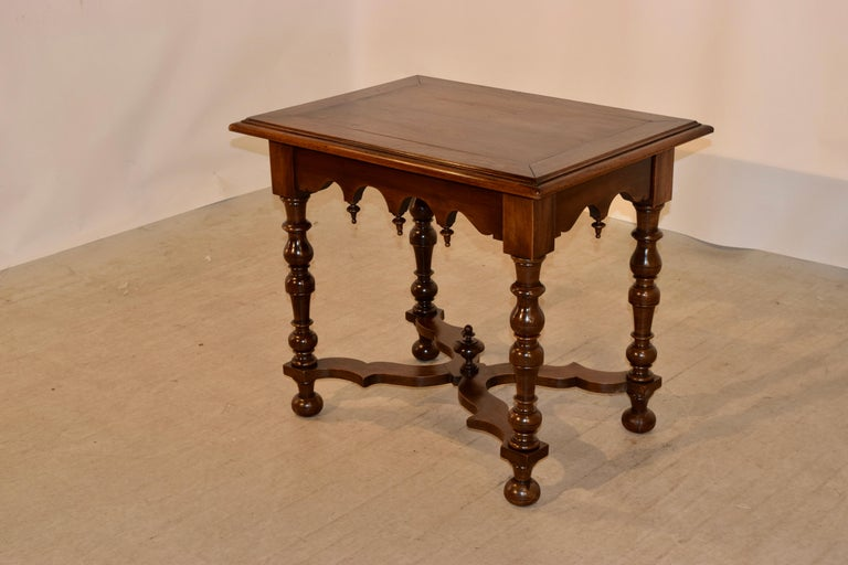 French 19th Century Walnut Side Table For Sale