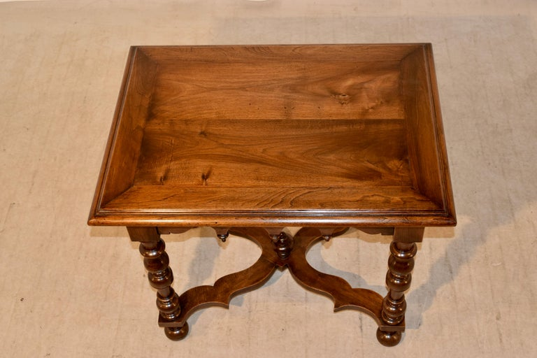 19th Century Walnut Side Table For Sale 2