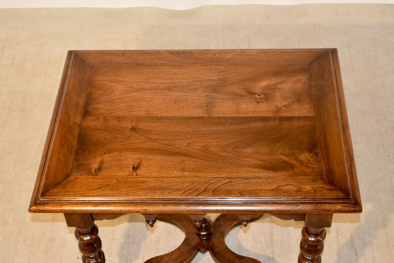 19th Century Walnut Side Table For Sale 3