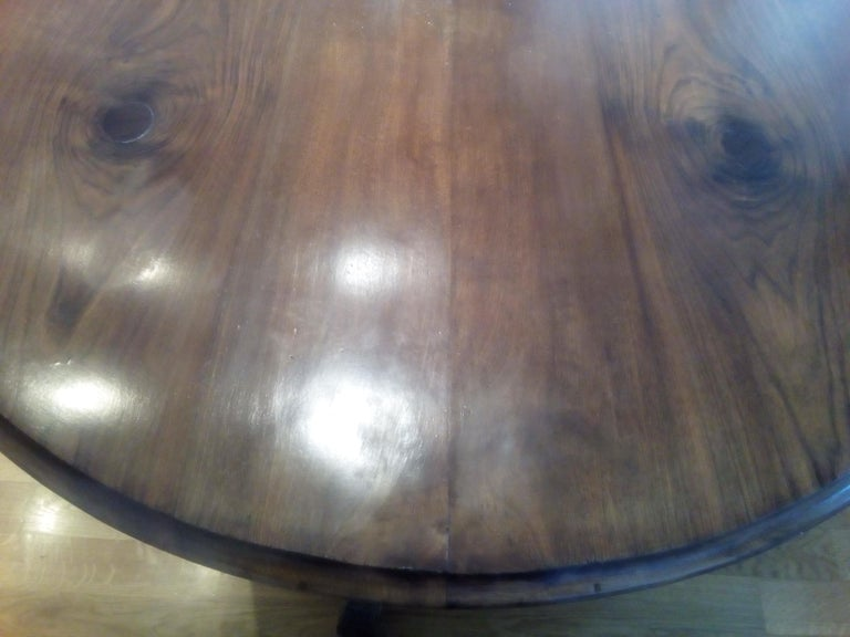 19th Century Walnut Table and Chairs Louis Philippe dining ...