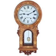 19th Century Walnut Wall Clock with Seth Thomas Movement