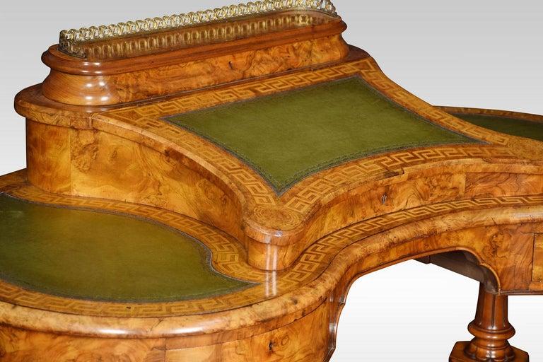 19th Century Walnut Writing Desk For Sale 5