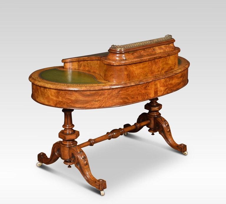 19th Century Walnut Writing Desk For Sale 2