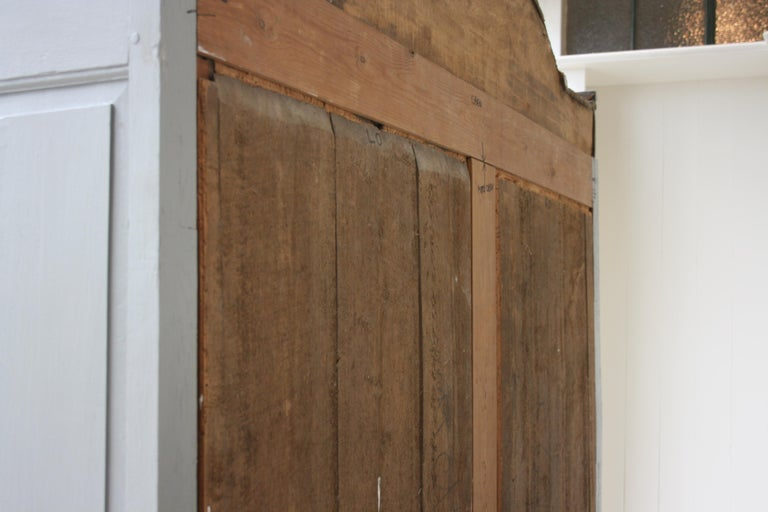 19th Century Wardrobe Made of Oak, Grey Painted For Sale 14