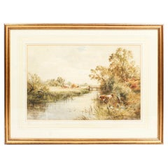 19th Century Watercolor Landscape by Henry John Kinnaird