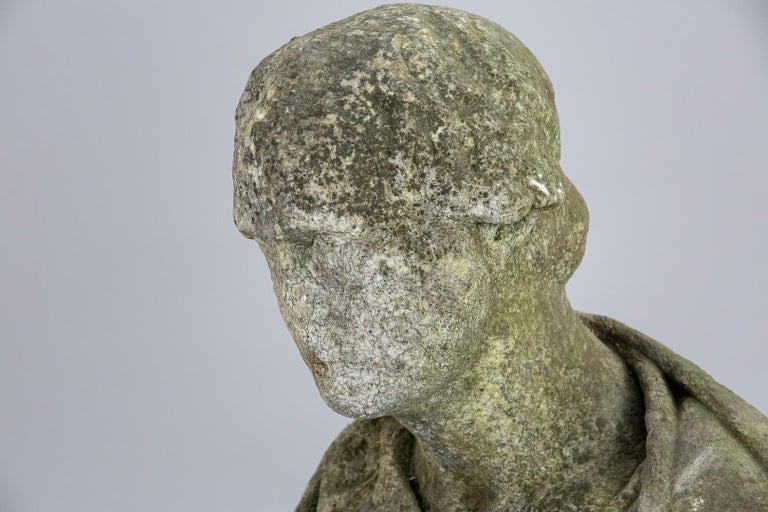 19th Century Weathered English Marble Bust For Sale 10