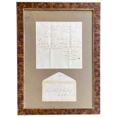 19th Century Whaleman's Letter Delivered on Whaling Grounds in the Indian Ocean