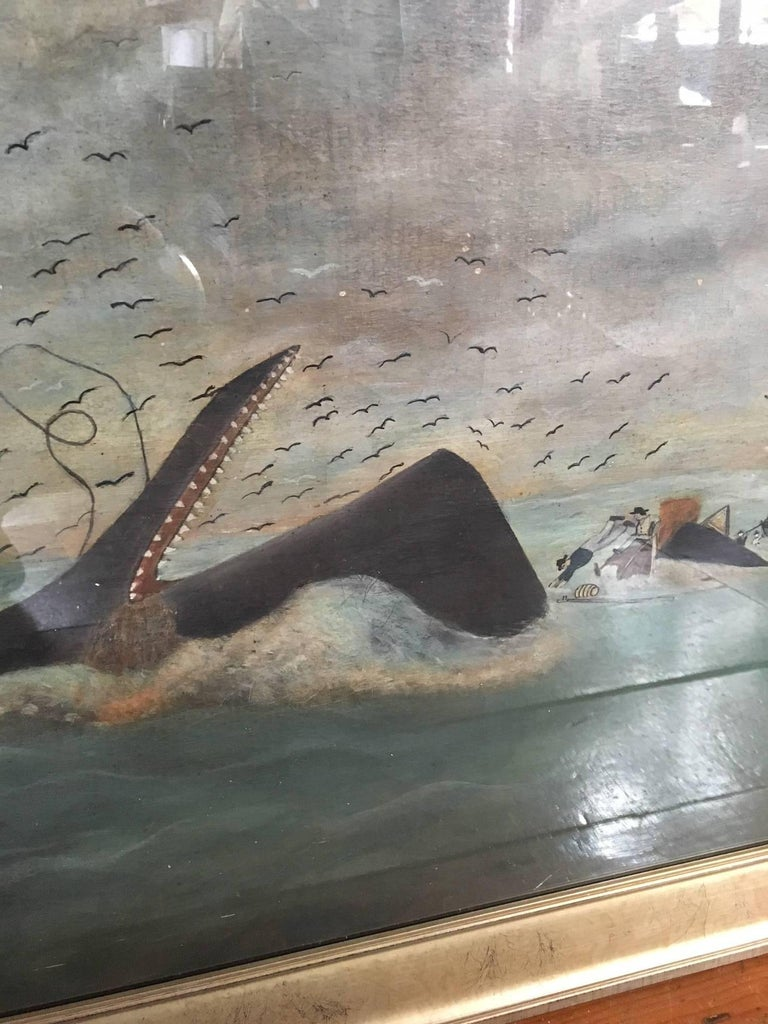 American 19th Century Whaling Panorama, circa 1890 For Sale