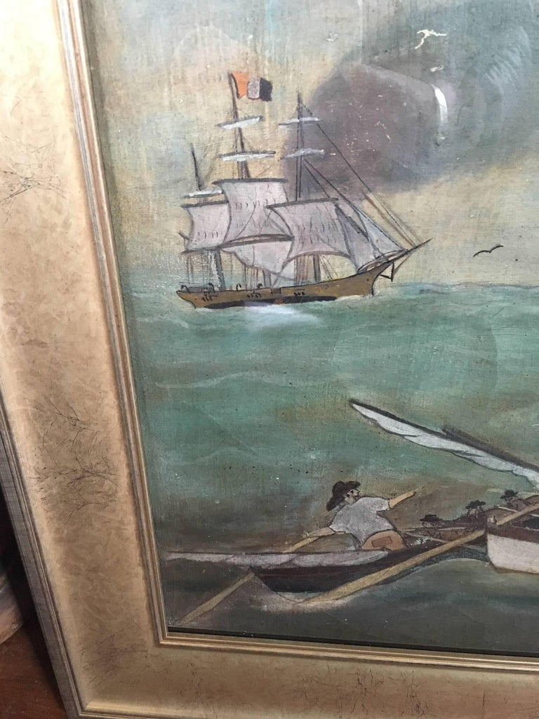 19th Century Whaling Panorama, circa 1890 In Excellent Condition For Sale In Nantucket, MA