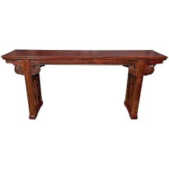 19th Century Whitewood Console, Sianxi, China