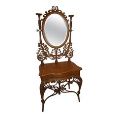 19th century Wicker Vanity Heywood Brothers & Wakefield Co.